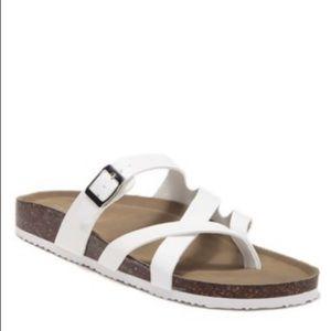Madden Girl Shoes - Madden Girl Bartlet Thong Sandal White